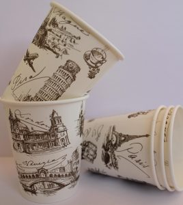 Customize logo printed coffee tea paper cups, Russia