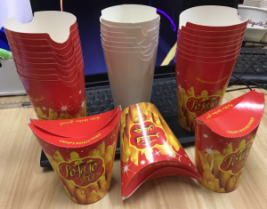 Butter fly french fries paper cups