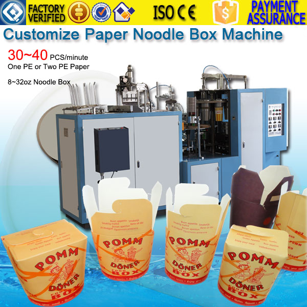 Paper Noodle Box Forming Machine