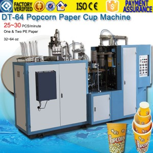 32~64oz Popcorn Paper Cup Forming Machine DTJ-64