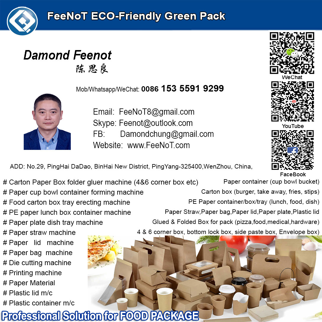 Damond Feenot, paper container box cup lid machine