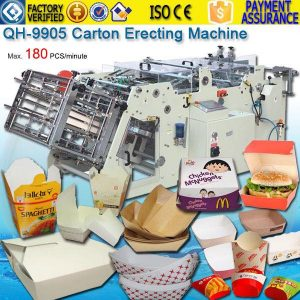 Europe Italy 8-corner corrugated board boat tray box machines QH-9905
