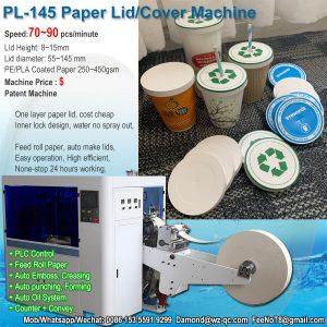 Jordan Paper lid machine & paper cup machine