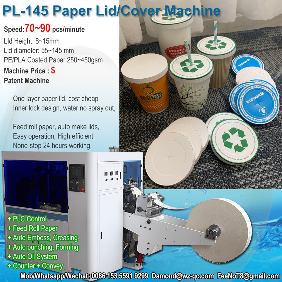 Paper Lid Machine for cup bowl container glass