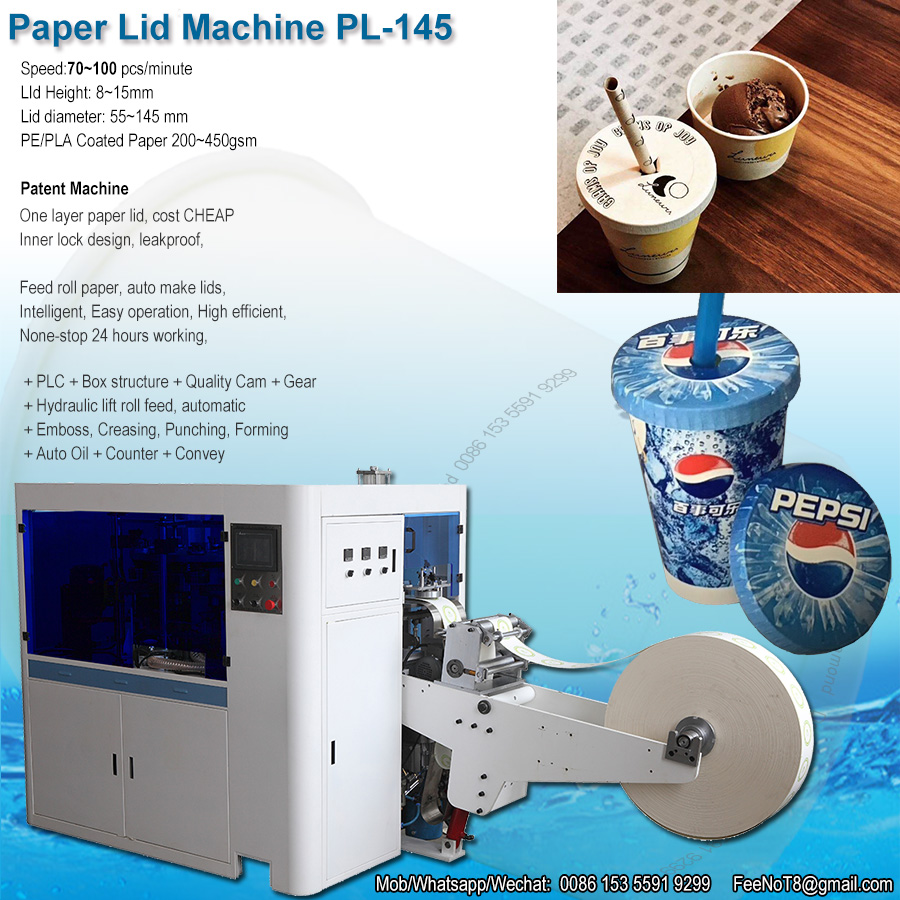 Leader paper cover lid cap machine, cup bowl container paper lid cover cap