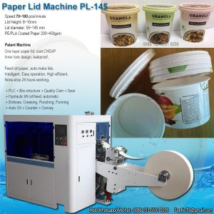 stackable paper lid paper cover paper cap machine