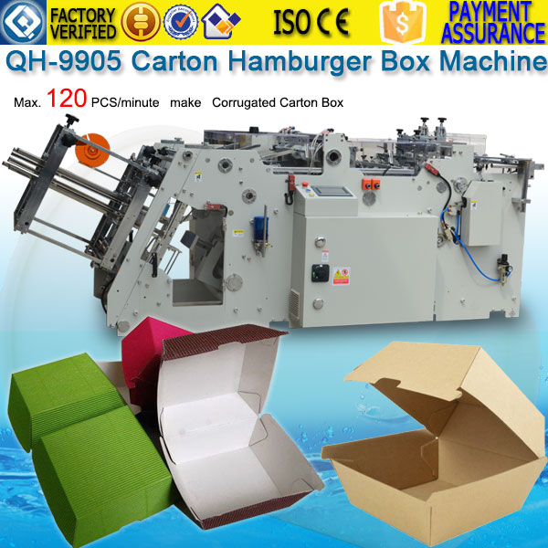 qh-9905-carton-hamburger-box-machine