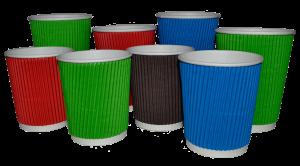 Ukraine ripple paper cups, corrugated paper cups,