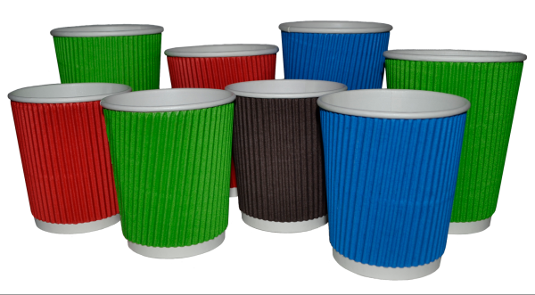 Ukraine customize logo printed ripple paper cups
