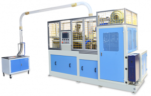 Medium Speed Paper Cup Making Machine with collector and safety fence