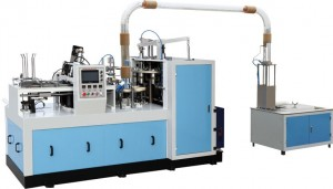 Paper cup making machine with collector
