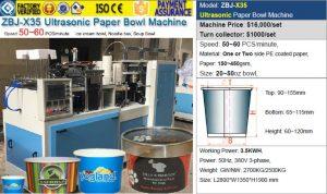 ZBJ-X35 ice cream paper bowl machine