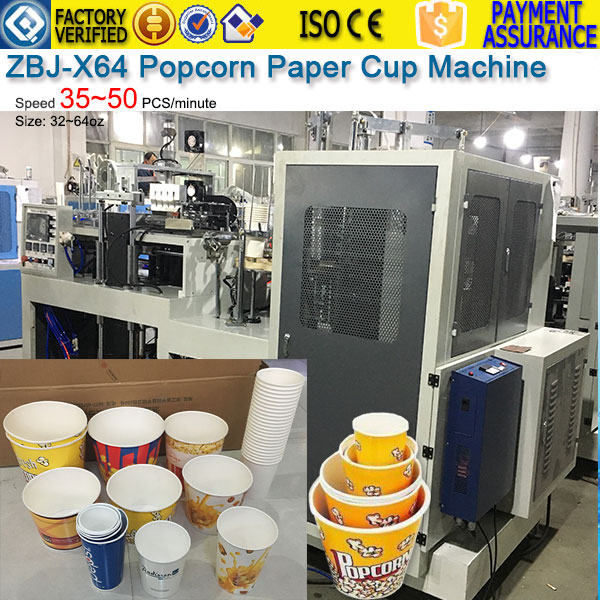 ZBJ-X64-Popcorn-Paper-Cup-Machine, paper bucket machine