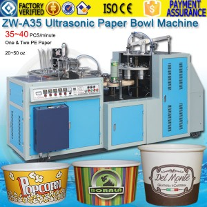20~50oz Paper Bowl Forming Machine ZW-A35 30~40 PCS/m