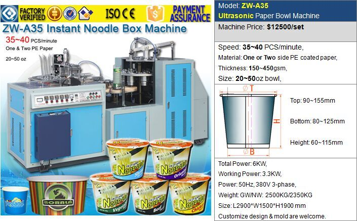 ZW-A35 Ultrasonic Paper Bowl Forming Machine