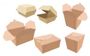 corrugated carton hamburger box, to go box