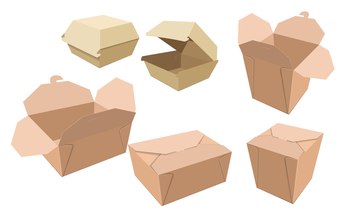 corrugated carton hamburger box, to go box