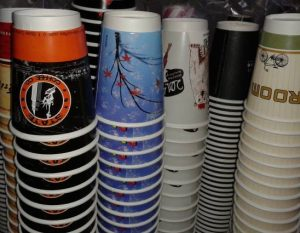 greece double wall paper cups